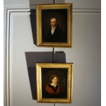 PAIR OF19th CENTURY  FRENCH PORTRAITS