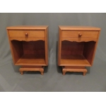 PAIR OF ART DECO STYLE BEDSIDE TABLES