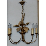1970 ' Chandelier In The Style of Maison Jansen Aux  Plantins