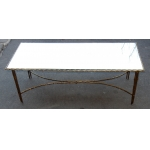 1950/70' Coffee Table Maison Charles, Top In Glass 112 X 47 cm Amount Double