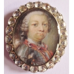 LOUIS XV PERIOD MINIATURE PORTRAIT