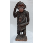 1950 'Chimpanzee Carved Wood (Paternity) Cameroon