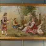 19th CENTURY FRENCH OIL ON CANVAS