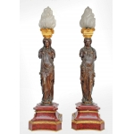 PAIR OF BARBEDIENNE LAMPS