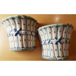 PAIR OF FAIENCE WALL VASES