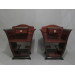 PAIR OF ART DECO PERIOD BEDSIDE TABLES