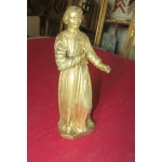 GILTWOOD STATUE OF A MONK