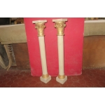 PAIR OF 19th CENTURY COLUMNS