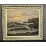 OIL ON CANVAS signed R. DE LA CORBIERE