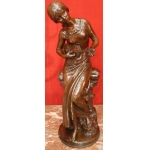 MOREAU Mathurin XIXTh ancient original bronze 19Th century young lady with her violin
