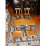 LOW TABLE AND CHAIRS