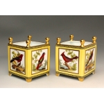 PAIR OF LIMOGES PORCELAIN FLOWER POTS