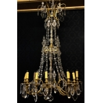 GILT BRONZE AND CRYSTAL LIGHT