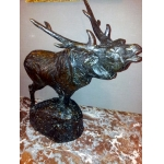 BRONZE STAG SIGNED M PROST