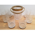 WHISKEY GLASSES WITH ICE BUCKET