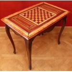 Games table ancient XVIIITh century Louis XV style in walnut