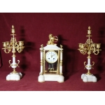 NAPOLEON III PERIOD CLOCK and CANDELABRA