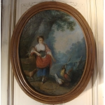 18th CENTURY FRENCH OIL ON CANVAS