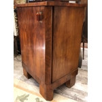 Art Deco bedside chevet in mahogany veneer