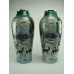 PAIR OF ST AMAND VASES