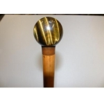 Old Cane with Pommel Eye-of-tiger circa 19 th time xix e napoleon iii second empire puzzle head dandy cane defense xix