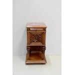Renaissance sculpted high bedside table - 1900