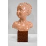 EARTHENWARE BUST after HOUDON