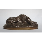 BRONZE GREYHOUND signed Gayrard.