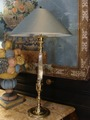 Pair Of Large Silver Bronze Lamps