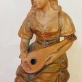A 19th century woman's terracotta signed