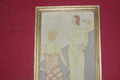 ART DECO PERIOD SILK PAINTING