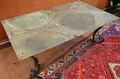 Art Deco Table Green Turtle Marble