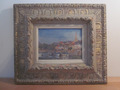 OIL ON CARDBOARD signed PIERRE VALADE