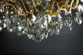 Gilded brass and crystal Chandelier - 18 lights