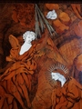 MARQUETRY PANEL REPRESENTING THE ANNUNCIATION