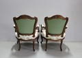 Pair of Louis XV Cabriolet Armchairs with Queen - XIX
