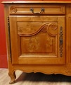 Buffet Charolais 19Th century in burr elm molded opening with two doors and two drawers