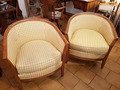 PAIR OF ART DECO STYLE ARMCHAIRS