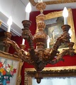 Chandelier in carved wood and gilt Style Louis XIV