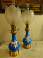 PAIR OF NAPOLEON III PERIOD OIL LAMPS