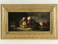 Alfred Arthur de Brunel de Neuville (1852 - 1941): Still life with peaches.