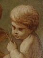 OIL ON CANVAS OF A CHERUB