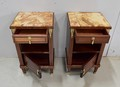 PAIR OF LOUIS XVI STYLE BEDSIDE TABLES