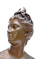 BRONZE BUST signed HOUDON
