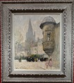 HERVE Jules René Painting 20th century The echauguette Oil on canvas signed