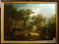 Pair of large 19th French Romantic Paintings