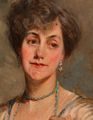 OIL ON CANVAS PORTRAIT SIGNED BY JACQUES EMILE BLANCHE